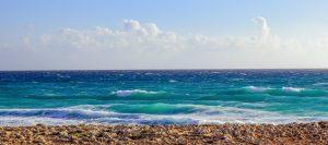 песчаный пляж острова Кипр